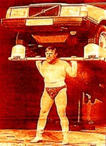 Выступление в цирке бывшего инвалида В.Дикуля (после перелома позвоночника)